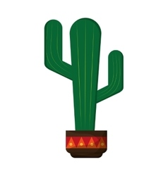 Cactus in pot icon vector