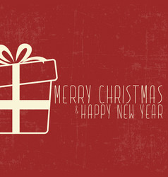 christmas and new year present card vector image