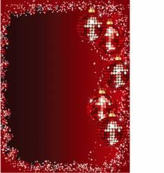 Christmas mirror baubles vector image