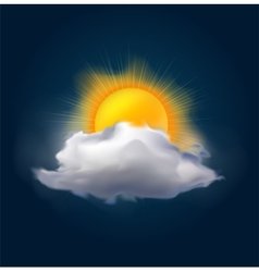 cloud and sun vector image