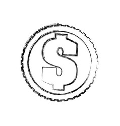 Coin of money vector