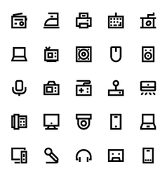 Electronics and devices icons 4 vector
