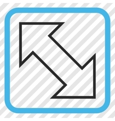 Exchange diagonal icon in a frame vector