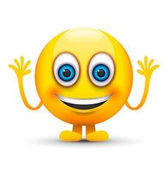 happy emoji character vector image vector image