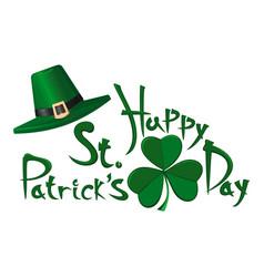 happy st patricks day design vector image vector image