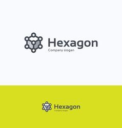 Hexagon 3D logo vector image vector image