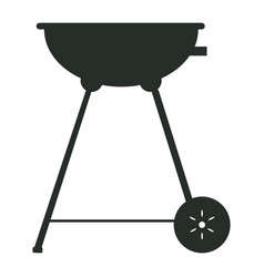 isolated grill silhouette vector image vector image