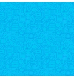 Line science education blue tile pattern vector