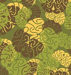 Military texture of brains Camouflage army vector image