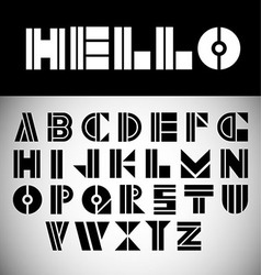 Modern font vector