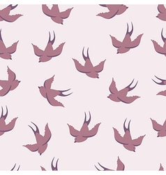seamless pattern with swallows vector image vector image