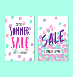 Two summer sale template vector