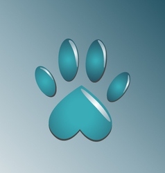 Water blue paw vector image vector image