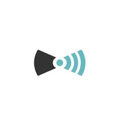 wifi tie icon vector image vector image