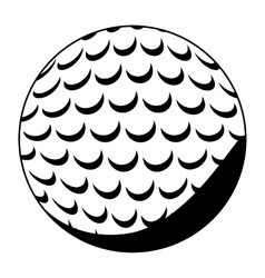 Isolated ball of golf design vector