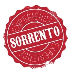 Sorrento stamp rubber grunge vector