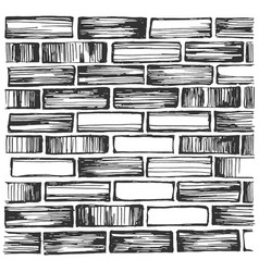 brick wall and masonry vector image