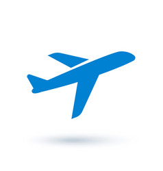 airplane icon in flat style vector image