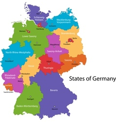 Germany map vector image