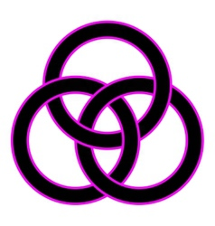 Borromean rings vector