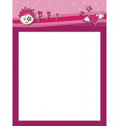funky pink header vector image