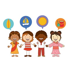 Cute children vector