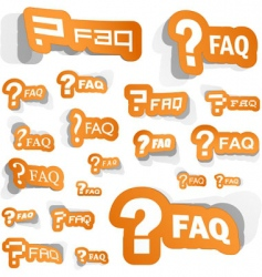 faq vector image