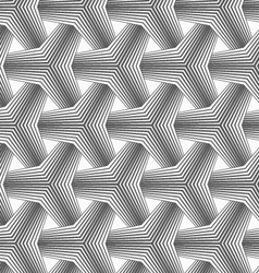 Slim gray halftone striped tetrapods vector