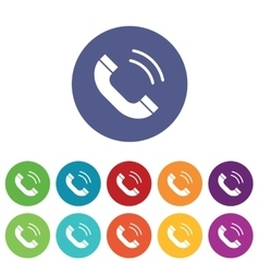 Calling icons colored set vector