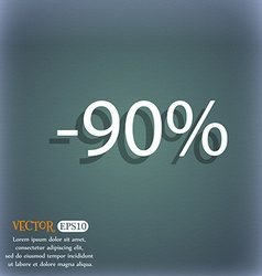 90 percent discount sign icon sale symbol special vector