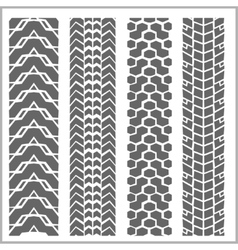 Car tire tracks - set vector