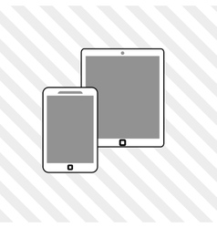 Smartphone and tablet icon design vector