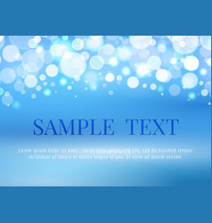 abstract blue background with bokeh lights vector image vector image