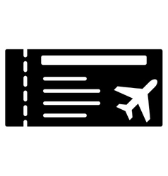 Airticket Flat Icon vector image