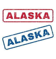 Alaska rubber stamps vector