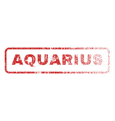 Aquarius rubber stamp vector