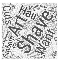 Art of shaving word cloud concept vector
