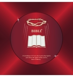 Bible crown of thorns vector image