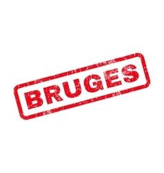Bruges text rubber stamp vector