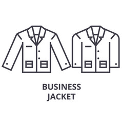 business jacket line icon outline sign linear vector image vector image