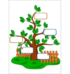 cartoon oak tree vector image