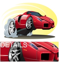 Cartoon Sportcar vector image vector image
