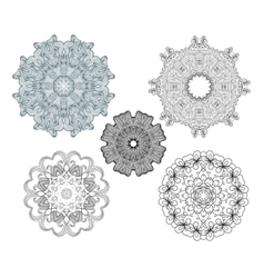 Collection of fancy round ornaments vector image