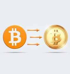 concept of bitcoin hard fork vector image vector image
