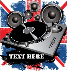 Dj party uk vector