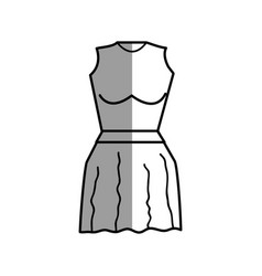 Figure casual blouse and short skirt cloth vector