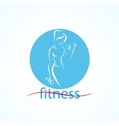 Fitness ans sport girls icons vector image vector image