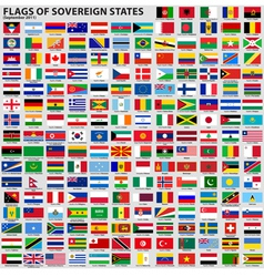 flags of world sovereign states vector image vector image