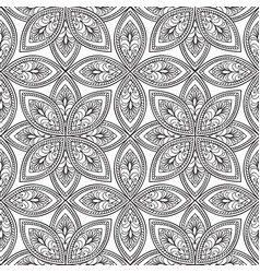 Floral seamless pattern linear orient ornament vector