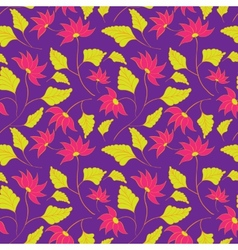 Flower seamless spring pattern vector image